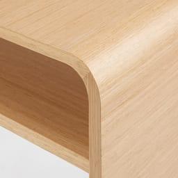 Arcus/アルクス コンソールテーブル 幅60cm (ア)ナチュラル 天板から脚にかけてなめらかなカーブを描く、角のないアールデザインでセンスよく。