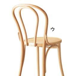 No.18 曲げ木ダイニングチェア(ベーシックカラー) [チェコTON社製] 後ろから見ても美しくデザインされているのがTON社のチェアの特徴。なんと8個のパーツだけで作られています。