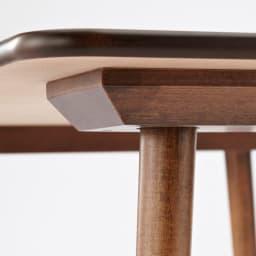 アンティーク風テーパーダイニングテーブル 正方形テーブル幅80cm×80cm[チェコTON社製]