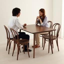 アンティーク風テーパーダイニングテーブル 長方形テーブル幅約120cm×80cm[チェコTON社製]