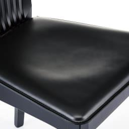 5点セット Connubia/コヌビア 伸長式テーブル+Philadelphiaチェア4脚  テーブル幅130cm(伸長時190cm) チェア座面アップ ブラック