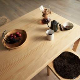 幅200ダイニングテーブル SU:iji/スイージー ニュージーパイン(R)無垢ダイニングシリーズ 経年変化を楽しむパイン無垢材のテーブル