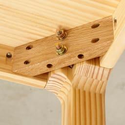 幅200ダイニングテーブル SU:iji/スイージー ニュージーパイン(R)無垢ダイニングシリーズ 脚部はお客様にて取付。付属の金具で組立可能です。
