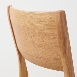 伸長式テーブル幅130~215cm チェア5点セット Vilske/ヴィルスク 伸長式ダイニングシリーズ 背もたれ部分アップ