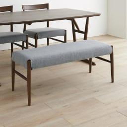 4点セット(チェア2脚・ベンチ1脚) kolmio/コルミオ ダイニングシリーズ テーブル幅150cm×85cm ベンチアップ