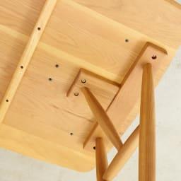 テーブル 幅150cm kolmio/コルミオ ダイニングシリーズ 脚取付部分アップ