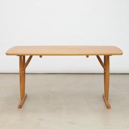 テーブル 幅150cm kolmio/コルミオ ダイニングシリーズ テーブル・脚 内側取付 (横から)