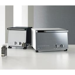 ミラーガラス オーブントースター スリムサイズ お届けは写真左の「スリムサイズ」です。