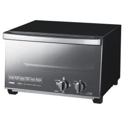 ミラーガラス オーブントースター レギュラーサイズ (ア)ブラック