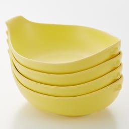 トリコトリ トリ皿 大4枚セット (ア)イエロー