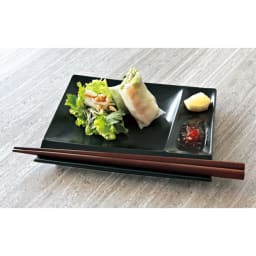お箸が置けるパレット皿 幅17cm 4枚組 取り分け用の小皿としても便利です。
