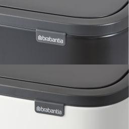 brabantia/ブラバンシア ダストボックス Boタッチビン カラータイプ (ア)ホワイトは光沢仕様、(イ)ブラックはマット仕様です。