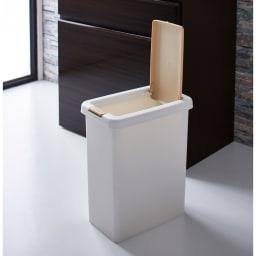 Formo/フォルモ 大理石調 ゴミ箱付きカウンター 2分別 ゴミ箱は取りはずせるので掃除も楽です。