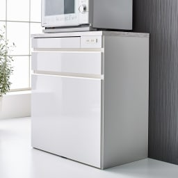 Formo/フォルモ 大理石調 ゴミ箱付きカウンター 3分別 (ア)ホワイト