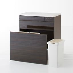 Formo/フォルモ 大理石調 ゴミ箱付きカウンター 3分別 ゴミ箱は取りはずせるので掃除も楽です。