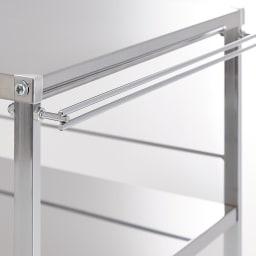 Prop/プロープ キッチン横 ステンレススリム作業台 幅20cm タオルバーとしても使えるハンドル付き。