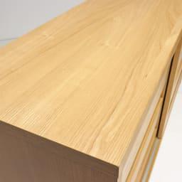 NexII ネックス2 天然木キッチン収納 カウンター 幅160cm 天板も木目の美しい仕上げ。