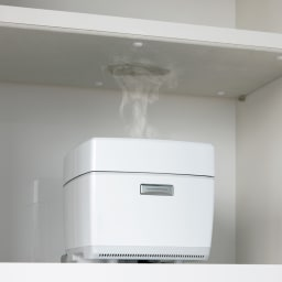 NexII ネックス2 天然木キッチン収納  レンジラック 幅70cm 〈モイス(※)で湿気対策〉オープン部には、調湿効果の高いモイスを使用。 ※ モイスとは、湿気を調節する無機材料。防火・耐火性に優れ、素材自体の力を利用した環境にやさしい適湿化素材です。