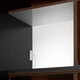 Glisse/グリッセ 連動引き戸ダイニングボード 幅161cm 【天井アルミシート】レンジ収納部は熱や汚れに強い仕様です。