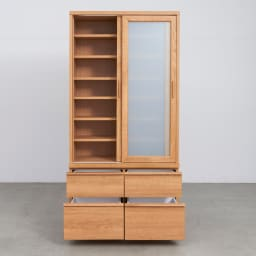 Elno/エルノ スライドボード・引き戸食器棚 幅90cm