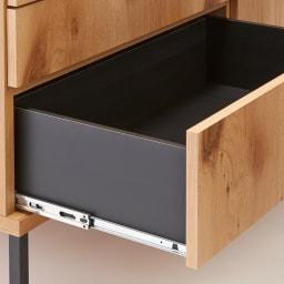 Bonno/ボノ キッチンカウンター 幅120cm フルスライドレール スムーズに引き出せ奥まで一気に見渡せます。