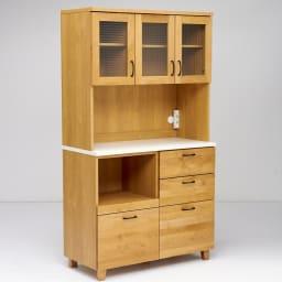 Pippi/ピッピ アルダー材コンパクトキッチン キッチンボード 幅100.5cm コンパクトなサイズ感が昨今の日本の住宅事情に丁度よい設計。