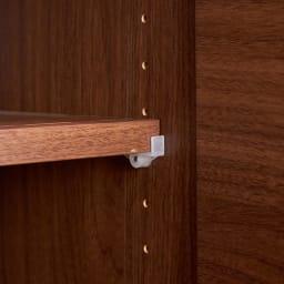 SabioII/サビオ リビング家電収納 サイドボード幅130cm 扉内の棚板は3cmピッチで高さ調節できます。