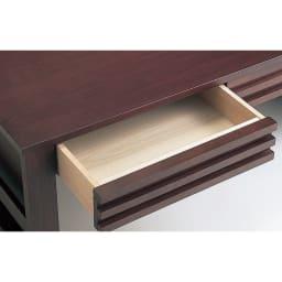 格子デザインシリーズ(ウォルナット) 引き出し付きリビングテーブル 引き出し内寸幅42.5奥行36.5高さ7cm
