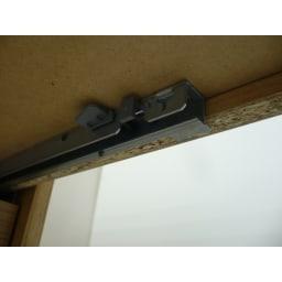 オーク天然木 リビングボード サイドボード [WOODMAN・ウッドマン] 引き出しはblum社のセルフクローズレールを使用しています。