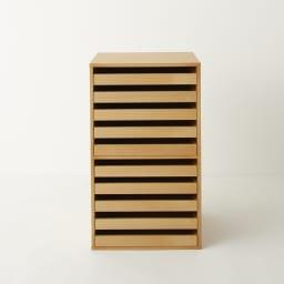 PortaII/ポルタ 多目的収納シリーズ 10段トレーチェスト ツガ天然木の化粧合板を使用しているので、天然木の豊かな風合いが味わえます。