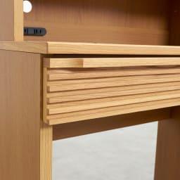 Pisaro/ピサロ オーク格子デスクシリーズ デスク 幅80高さ180cm 端正な格子柄は上品でお部屋にやさしいぬくもりをもたらします。