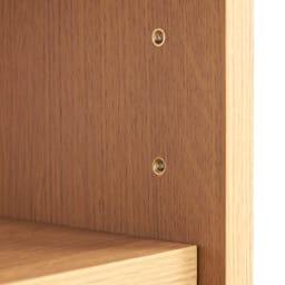 Pisaro/ピサロ オーク格子デスクシリーズ シェルフ 幅60高さ180cm 可動棚は6cm間隔で高さ調整できるので本の大きさに合わせて細かく収納ができます。棚ダボはネジを回すように閉める差し込み式なので丈夫で安心です。(棚板耐荷重は約20kgです)