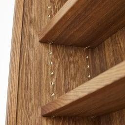 Winkel/ヴィンケル オーク天然木ななめ本棚 幅80cm・ロー