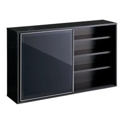 Evan(エヴァン) スライドシェルフ ロータイプ本棚 幅150cm イ)ブラック