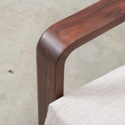 a tempo/アテンポ ウォルナット天然木 木製フレームソファ 2.5人掛け・幅177cm