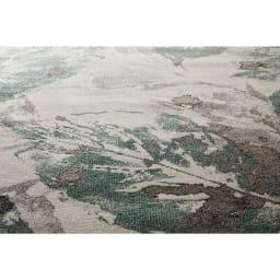 Leafy/リーフィー ウィルトン織ラグ (ア)グリーン ヒートセット加工を施しているので表面は滑らか、上質な光沢感のあるラグです。