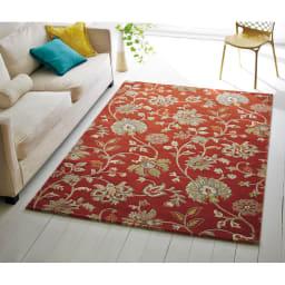 ベルギー製 Adriana アドリアーナ ウィルトン織ラグ レッド ※画像は約160×230cmタイプです。