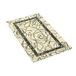 イタリア製 Camelia カメリア ゴブラン織キッチンマット [色見本]アイボリーグリーン※写真は約140×200cmのラグ