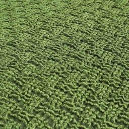 スペイン製チェアカバー [ティナ] 座面カバー(同色2枚組) 【生地アップ】グリーン