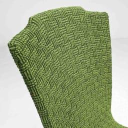 スペイン製 チェアカバー [Tina ティナ] 背付カバー 【背もたれアップ】グリーン