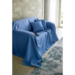 ホテル仕様スプレッド・フットスロー Plagea/プラージュア (ア)クラシックブルー ※画像はスプレッドです