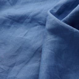 French Linen/フレンチリネン カバーリング クッションカバー(同色2枚組) [生地アップ]ブルー(WEB限定)