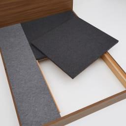 Pahkina/パーキナ 収納ベッド マジェスタ 床板下は長物が収納できるスペースがあります。オフシーズンの寝具などもたっぷり収納。
