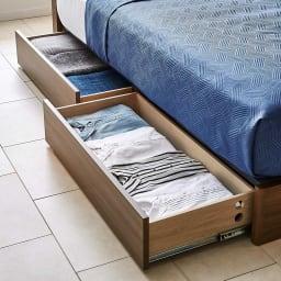 Pahkina/パーキナ 収納ベッド マジェスタ 大容量の引き出しには衣服などもたっぷり収納できます。