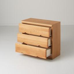 Tord/トルド 天然木薄型チェスト チェスト3段