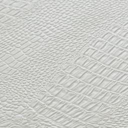 Kudelia/クーデリア 上下棚付き頑丈ハンガーラック シングル 幅90cm [素材アップ]棚板にはクロコ型押し模様のフェイクレザーをあしらって、見せたくなる自慢のクローゼットに。