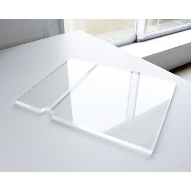 Boby Wagon/ボビーワゴン 専用アクリル天板セット 厚みのある透明アクリル板で、ボビートロリーの天板の段差を解消。透明なのでお気に入りの本体カラーも阻害しません。