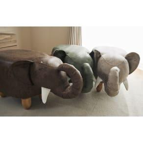 ゾウのスツール 写真