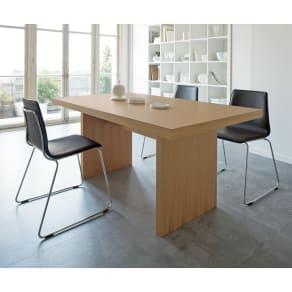 Multi マルチダイニングテーブル パネルレッグタイプ 幅160cm 写真