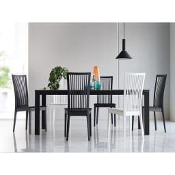 5点セット Connubia/コヌビア 伸長式テーブル+Philadelphiaチェア4脚  テーブル幅130cm(伸長時190cm) コーディネート例